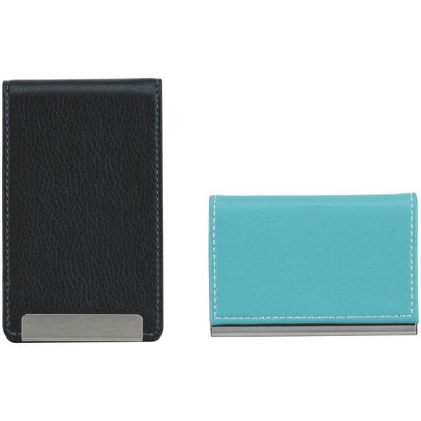 ヴァンウエスト カード&パスケースセット(ライトブルー&ブラック)