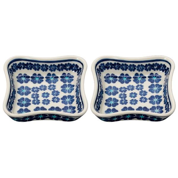 セラミカ / ブラウ ペア四方皿(11.5cm)
