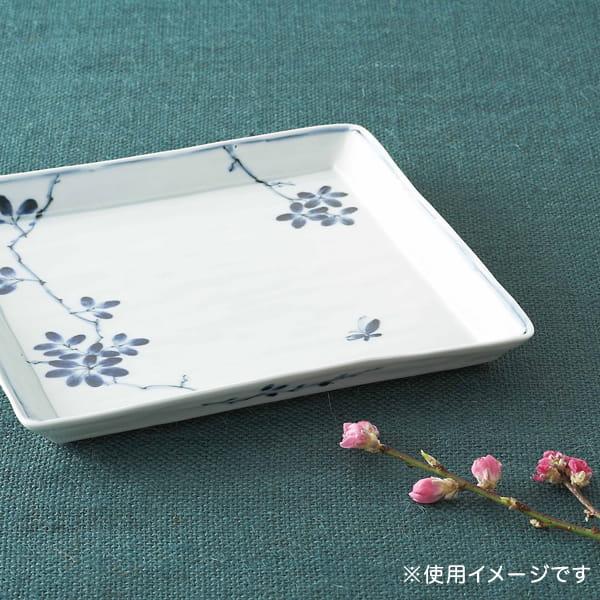 陶房青 / 波佐見焼 のばらの葉 角大皿