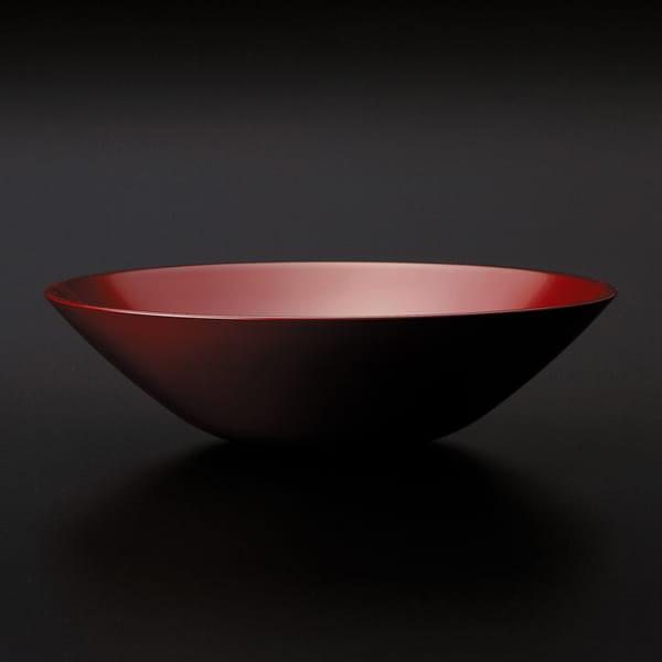 手塗うるし6.3盛鉢(朱)