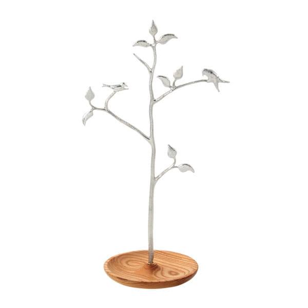 SHIROKANE / 木と小鳥のアクセサリースタンド ケヤキ
