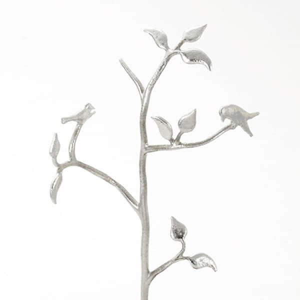 SHIROKANE / 木と小鳥のアクセサリースタンド 黒