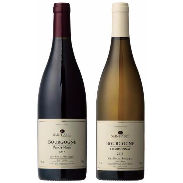 ドメーヌ・サンタベル ブルゴーニュ紅白ワインセット 各750ml