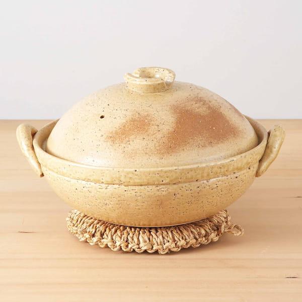 萬古焼 黄釉土鍋8号
