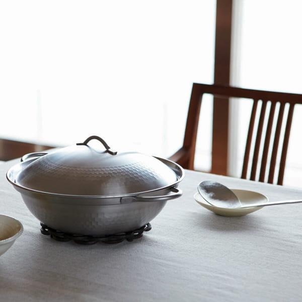 肴七味 / ステンレス製 卓上鍋(お玉・目皿付)