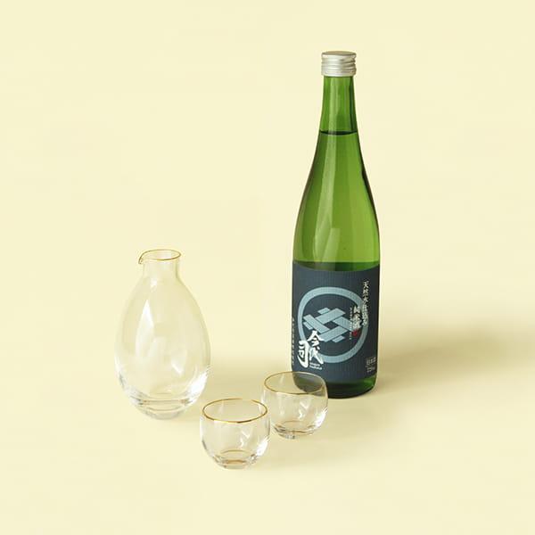 Sghr スガハラ×antina / 酒器&清酒(今代司)セット