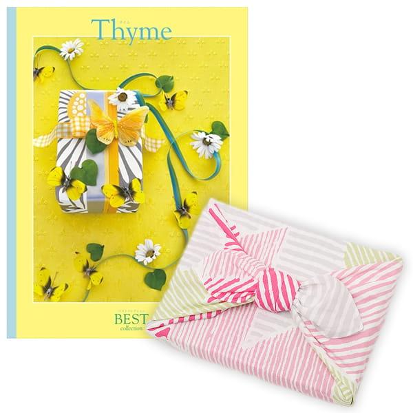 <風呂敷包み> 選べるギフト ベストコレクション <タイム|Thyme+風呂敷(こはれ ねんりん ピンク)>