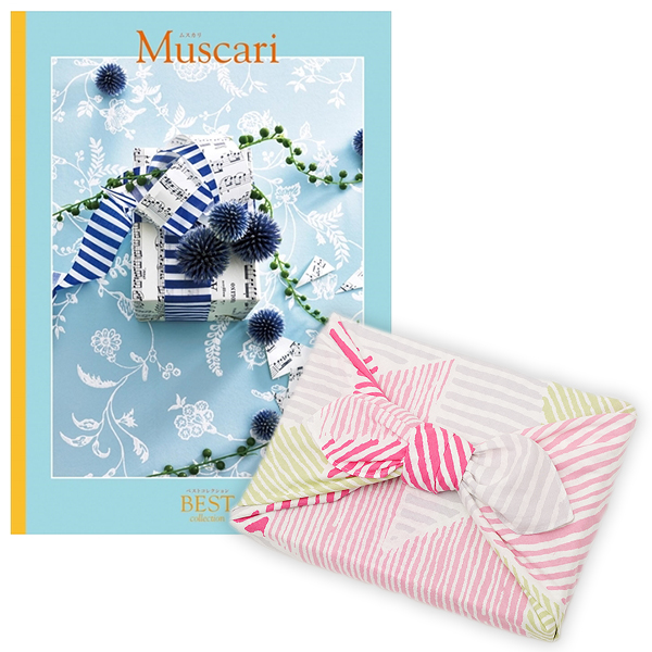 <風呂敷包み> 選べるギフト ベストコレクション <ムスカリ|Muscari+風呂敷(こはれ ねんりん ピンク)>