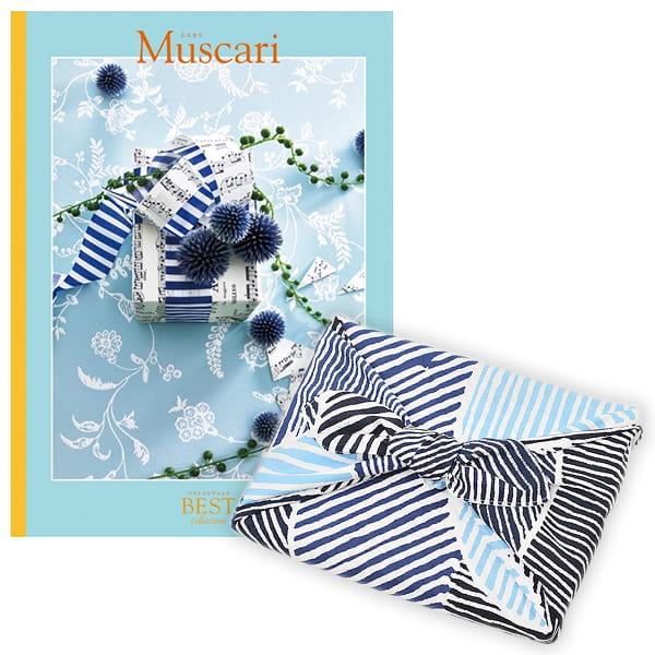 <風呂敷包み> 選べるギフト ベストコレクション <ムスカリ|Muscari+風呂敷(こはれ ねんりん ブルー)>