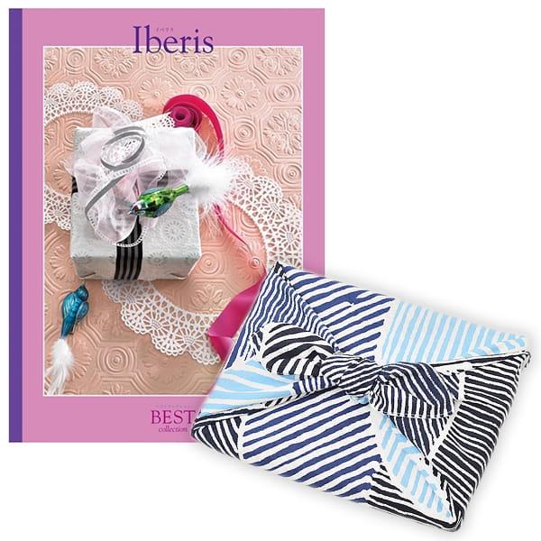 <風呂敷包み> 選べるギフト ベストコレクション <イベリス|Iberis+風呂敷(こはれ ねんりん ブルー)>