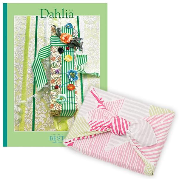 <風呂敷包み> 選べるギフト ベストコレクション <ダリア|Dahlia+風呂敷(こはれ ねんりん ピンク)>