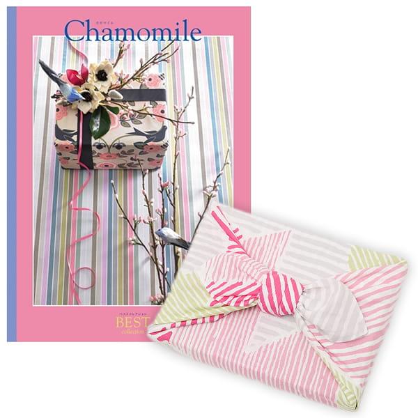 <風呂敷包み> 選べるギフト ベストコレクション <カモマイル|Chamomile+風呂敷(こはれ ねんりん ピンク)>
