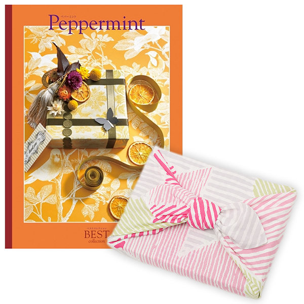 <風呂敷包み> 選べるギフト ベストコレクション <ペパーミント|Peppermint+風呂敷(こはれ ねんりん ピンク)>