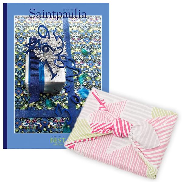 <風呂敷包み> 選べるギフト ベストコレクション <セントポーリア|Saintpaulia+風呂敷(こはれ ねんりん ピンク)>