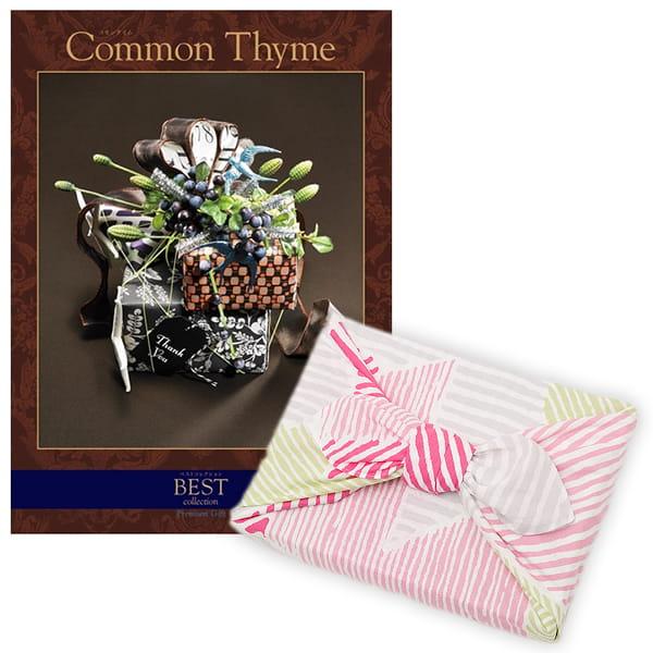 <風呂敷包み> 選べるギフト ベストコレクション <コモンタイム|Common Thyme+風呂敷(こはれ ねんりん ピンク)>