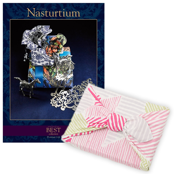 <風呂敷包み> 選べるギフト ベストコレクション <ナスタチウム|Nasturtium+風呂敷(こはれ ねんりん ピンク)>