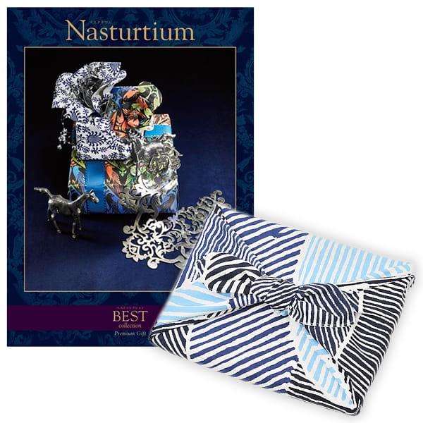 <風呂敷包み> 選べるギフト ベストコレクション <ナスタチウム|Nasturtium+風呂敷(こはれ ねんりん ブルー)>