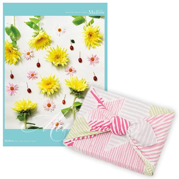 <風呂敷包み> 選べるギフト Mistral(ミストラル) <マロウ+風呂敷(こはれ ねんりん ピンク)>