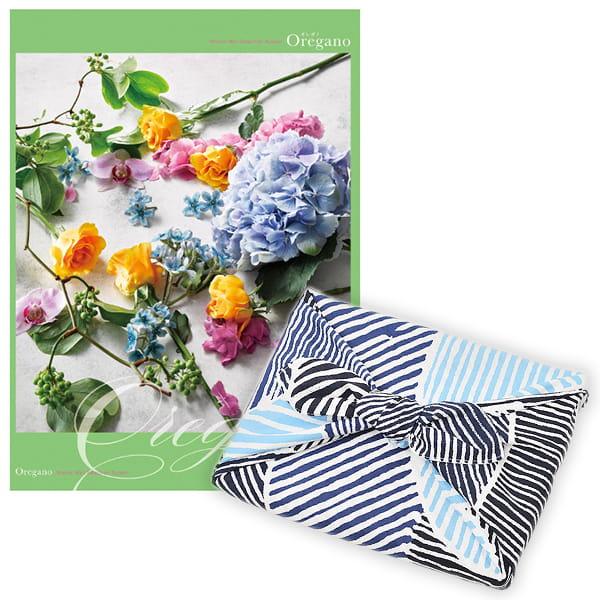 <風呂敷包み> 選べるギフト Mistral(ミストラル) <オレガノ+風呂敷(こはれ ねんりん ブルー)>