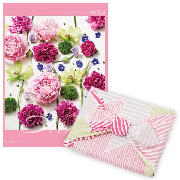<風呂敷包み> 選べるギフト Mistral(ミストラル) <アルニカ+風呂敷(こはれ ねんりん ピンク)>