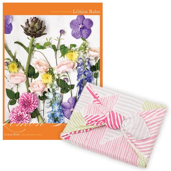 <風呂敷包み> 選べるギフト Mistral(ミストラル) <レモンバーム+風呂敷(こはれ ねんりん ピンク)>