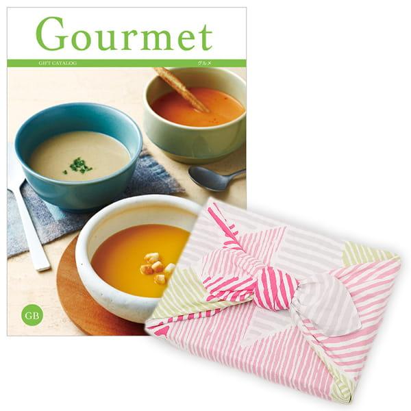 <風呂敷包み> グルメカタログギフト Gourmet <GB+風呂敷(こはれ ねんりん ピンク)>
