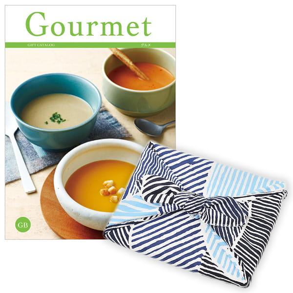 <風呂敷包み> グルメカタログギフト Gourmet <GB+風呂敷(こはれ ねんりん ブルー)>