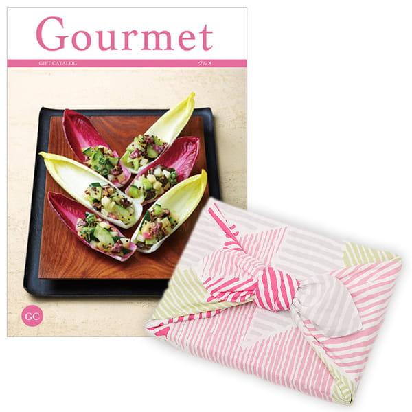 <風呂敷包み> グルメカタログギフト Gourmet <GC+風呂敷(こはれ ねんりん ピンク)>
