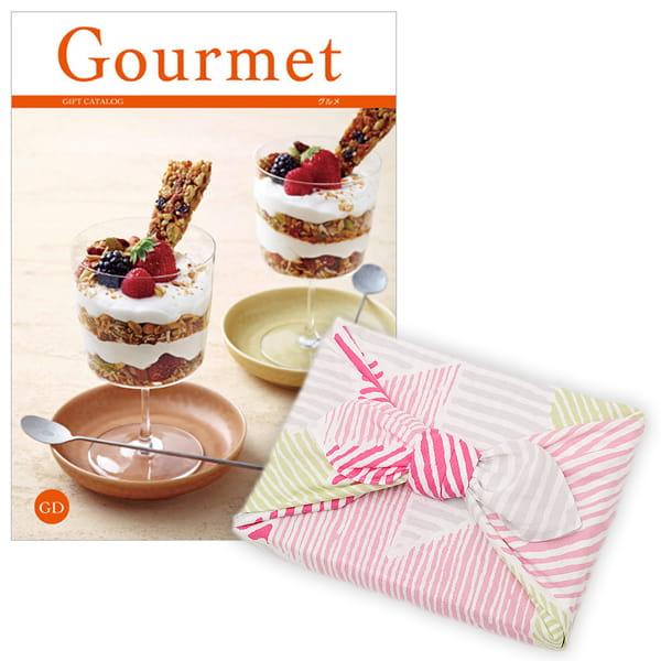 <風呂敷包み> グルメカタログギフト Gourmet <GD+風呂敷(こはれ ねんりん ピンク)>