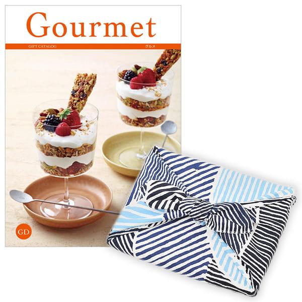 <風呂敷包み> グルメカタログギフト Gourmet <GD+風呂敷(こはれ ねんりん ブルー)>