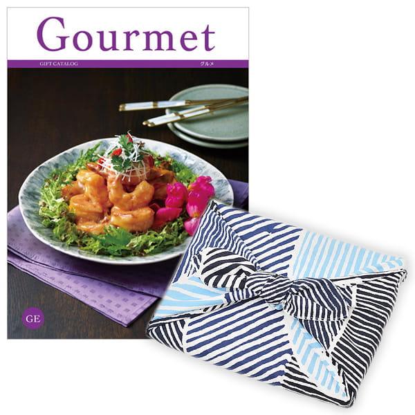 <風呂敷包み> グルメカタログギフト Gourmet <GE+風呂敷(こはれ ねんりん ブルー)>