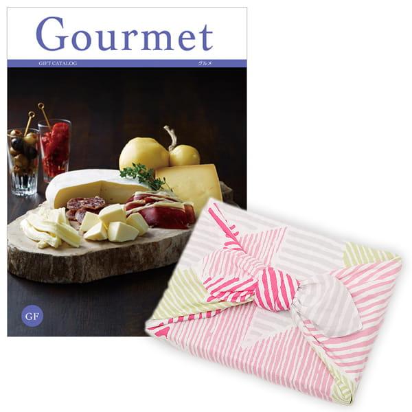 <風呂敷包み> グルメカタログギフト Gourmet <GF+風呂敷(こはれ ねんりん ピンク)>