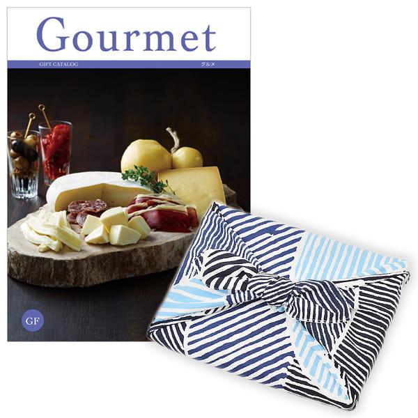 <風呂敷包み> グルメカタログギフト Gourmet <GF+風呂敷(こはれ ねんりん ブルー)>