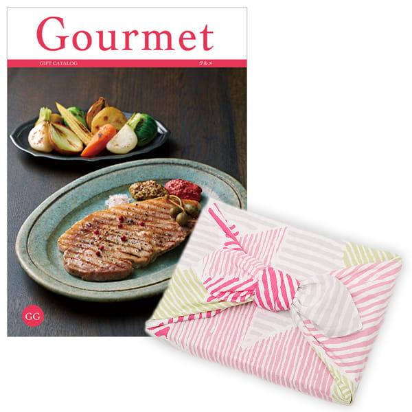 <風呂敷包み> グルメカタログギフト Gourmet <GG+風呂敷(こはれ ねんりん ピンク)>