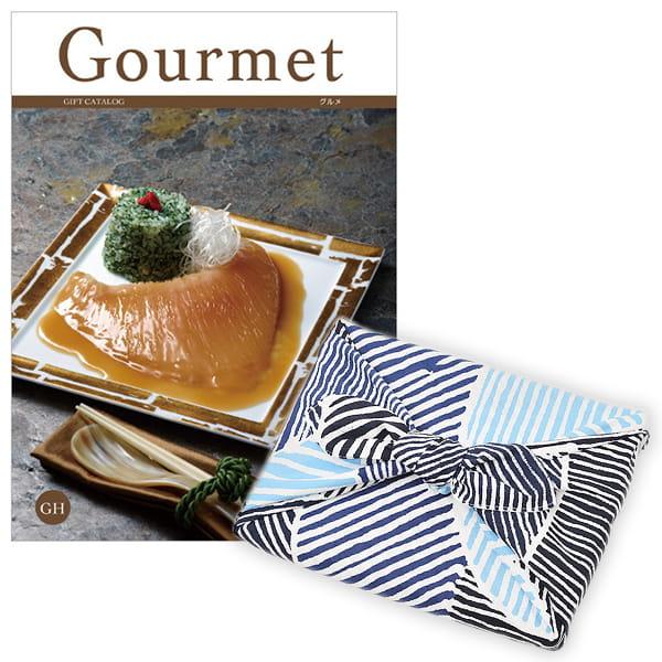<風呂敷包み> グルメカタログギフト Gourmet <GH+風呂敷(こはれ ねんりん ブルー)>