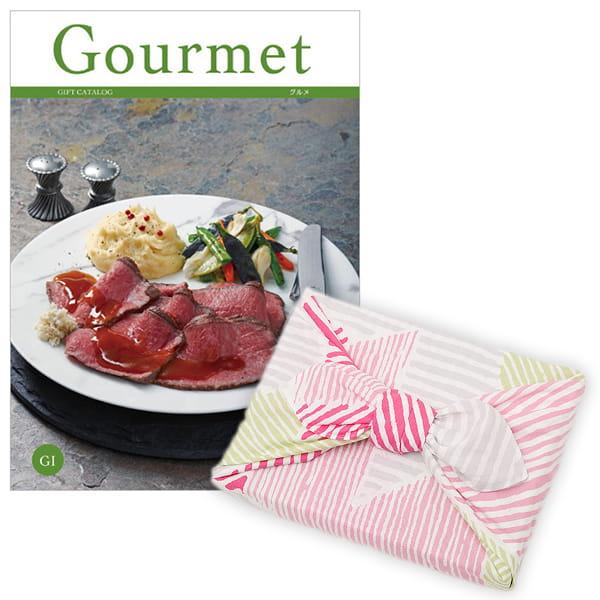 <風呂敷包み> グルメカタログギフト Gourmet <GI+風呂敷(こはれ ねんりん ピンク)>