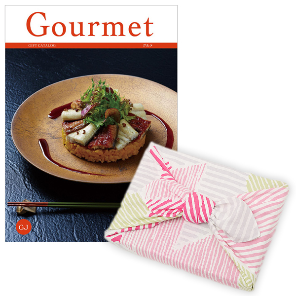 <風呂敷包み> グルメカタログギフト Gourmet <GJ+風呂敷(こはれ ねんりん ピンク)>