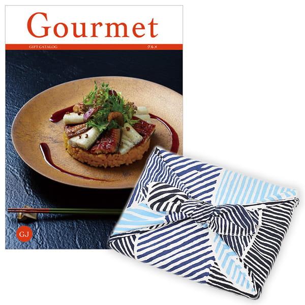 <風呂敷包み> グルメカタログギフト Gourmet <GJ+風呂敷(こはれ ねんりん ブルー)>