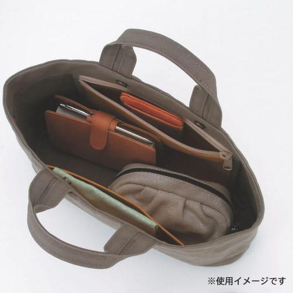 工房HOSONO / 丸底横型トートバッグ(カーキ)
