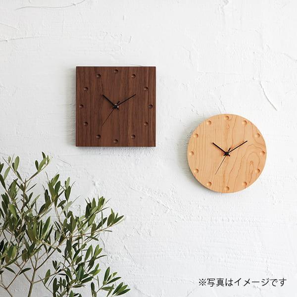 hacoa / ウォールクロック(角・ウォールナット)