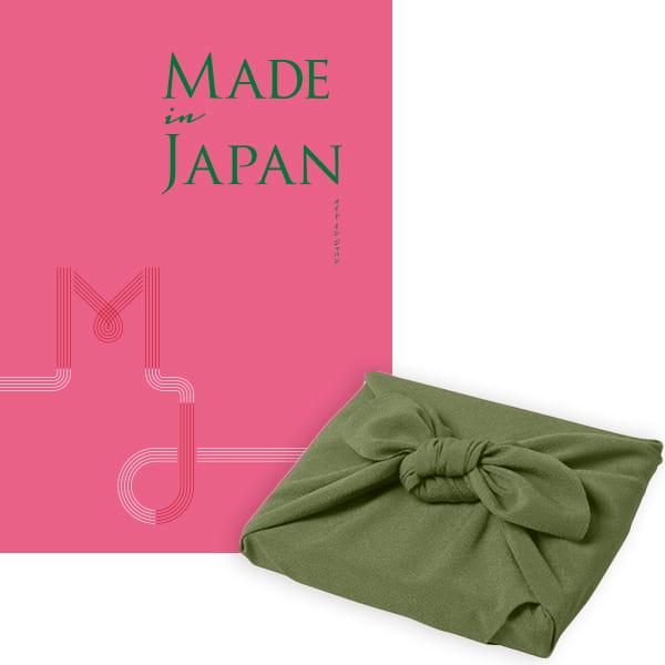 <風呂敷包み> Made In Japan(メイドインジャパン) カタログギフト <MJ08+風呂敷(色のきれいなちりめん かぶの葉)>