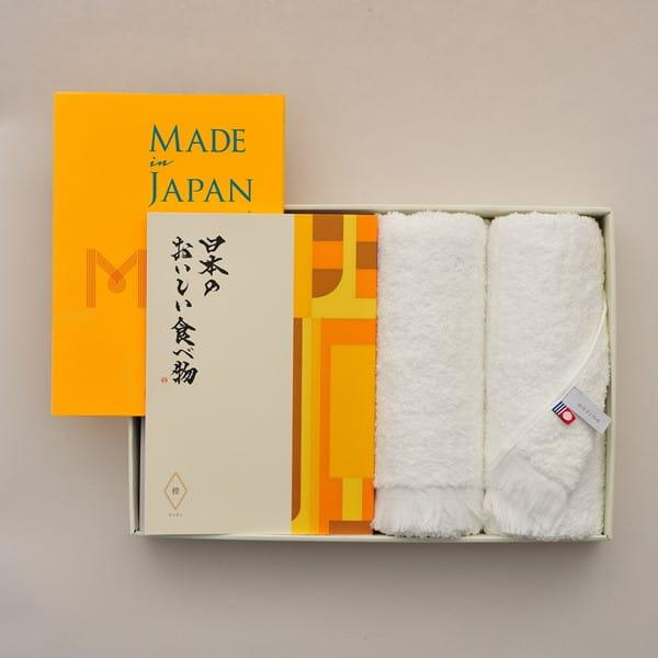 Made In Japan(メイドインジャパン) with 日本のおいしい食べ物 <MJ06+橙(だいだい)>+今治フェイスタオルセット