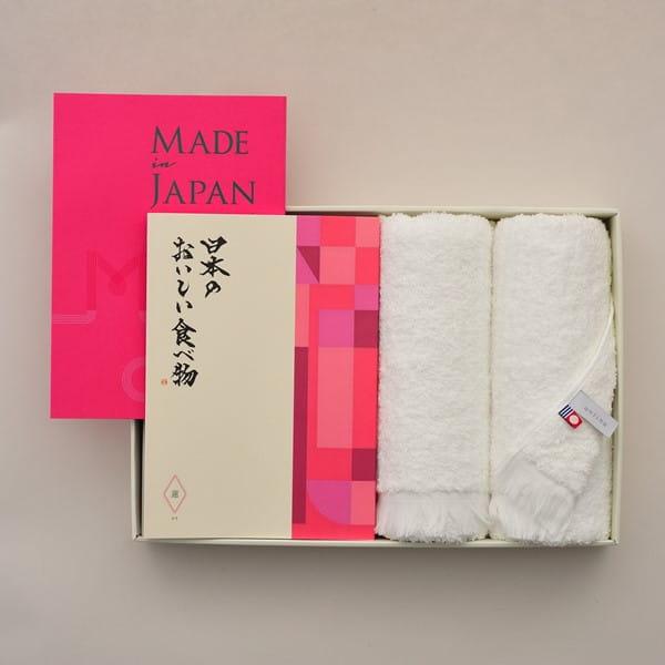 Made In Japan(メイドインジャパン) with 日本のおいしい食べ物 <MJ08+蓮(はす)>+今治フェイスタオルセット