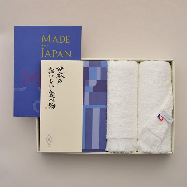 Made In Japan(メイドインジャパン) with 日本のおいしい食べ物 <MJ10+藍(あい)>+今治フェイスタオルセット