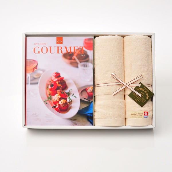 グルメカタログギフト Gourmet <GD>+今治フェイスタオルセット