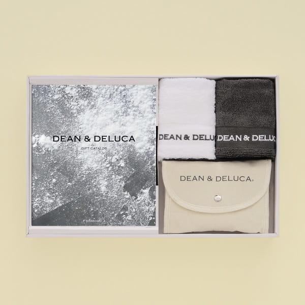 DEAN&DELUCA ギフトカタログ <CHARCOAL(チャコール)>+ハンドタオル+ショッピングバッグ(ナチュラル)セット