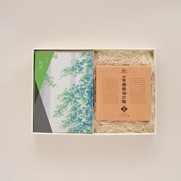 選べるギフト 沙羅(さら) <桔梗(ききょう)>+有機JAS認証高田の梅「しそ梅干」