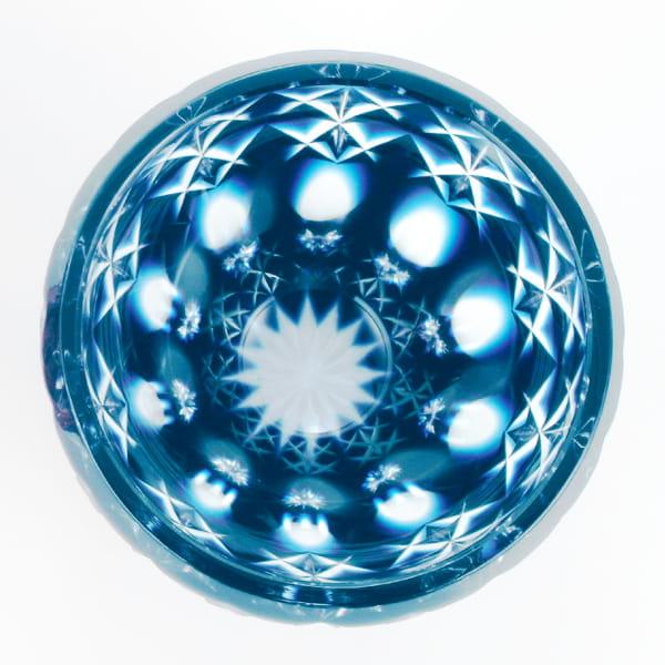 薩摩切子 ロックグラス(藍)