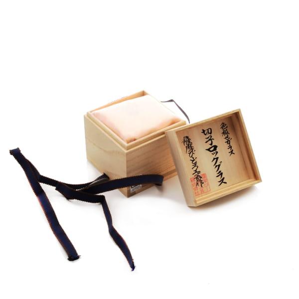 薩摩切子 ロックグラス(金赤)