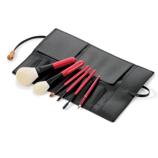 Takeda Brush(竹田ブラシ) 熊野筆 基本ブラシセット椿(ケース付)